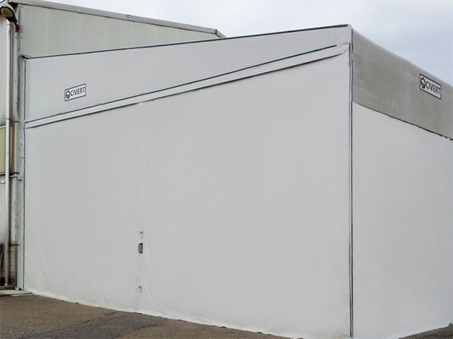 coperture mobili capannoni monofalda