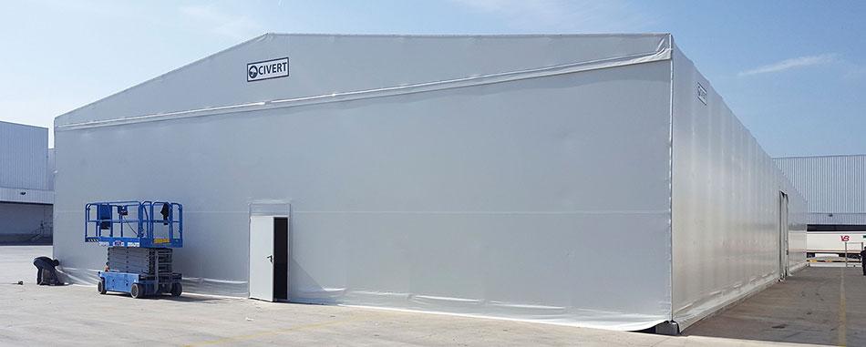 capannoni mobili only con porta pedonale