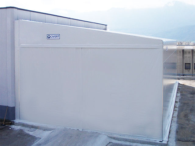 capannoni mobili in pvc laterali Monoside