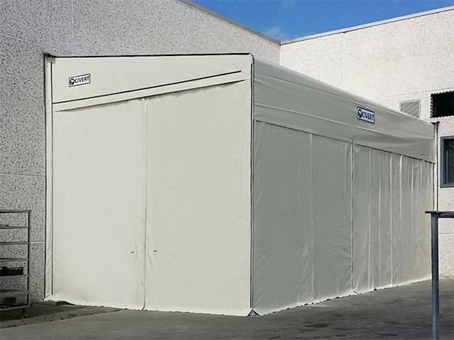 copertura laterale monofalda