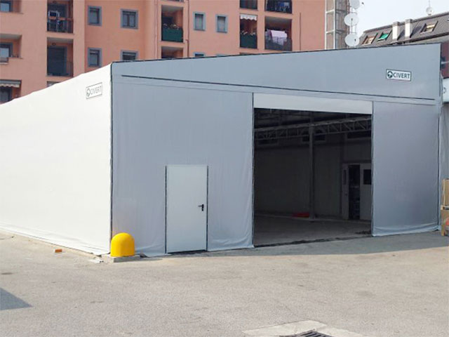 coperture mobili per capannoni