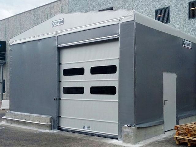 porte rapide chiusure per capannoni mobili