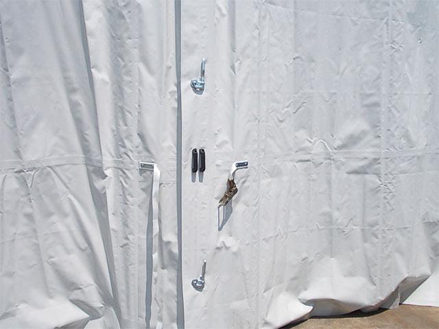 tende scorrevoli per capannoni mobili