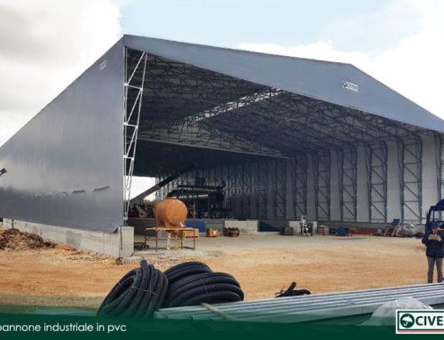 Installazione di un capannone industriale in pvc a Bari