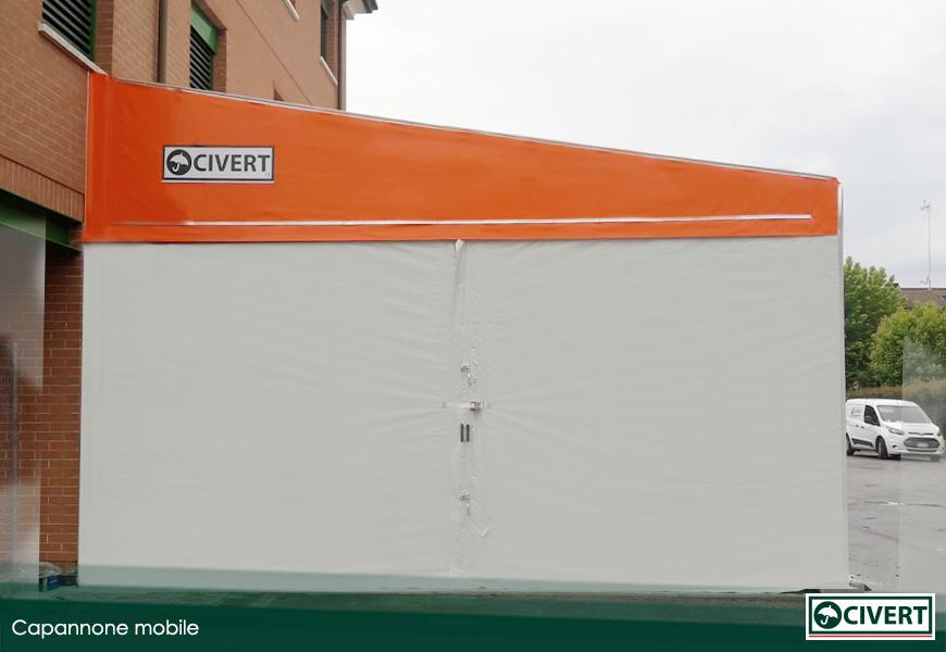 capannone mobile per l'associazione di montecchio