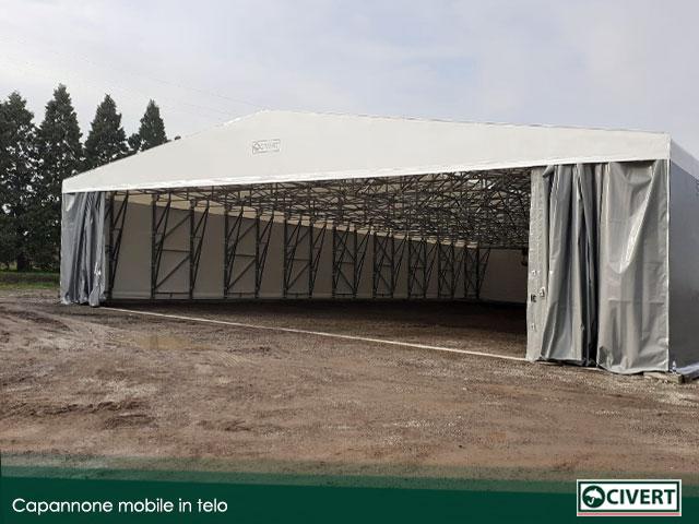 capannone mobile in telo realizzato in provincia di Parma