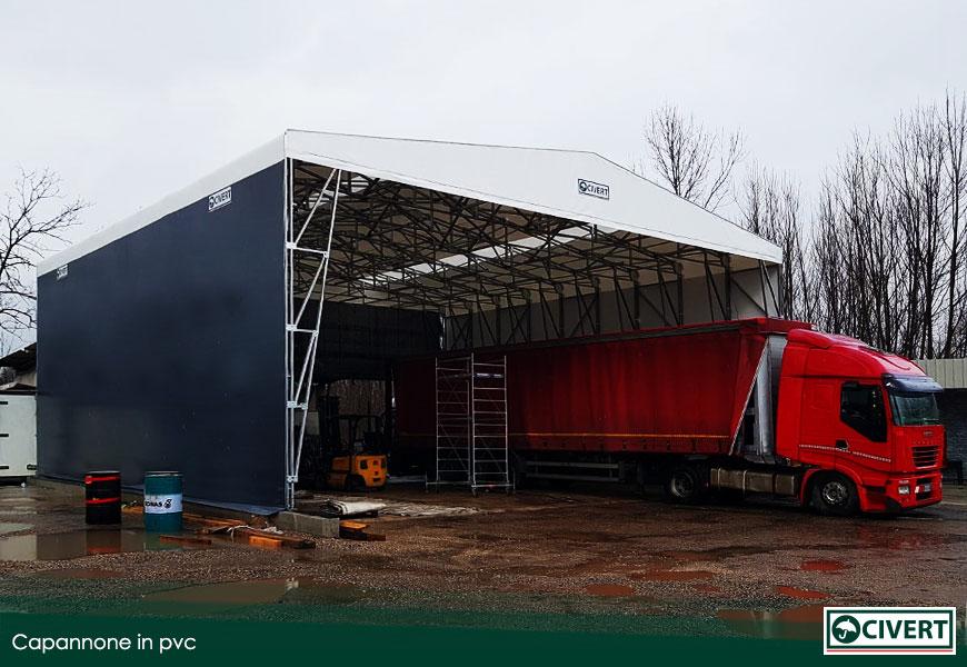 capannoni in pvc per la logistica