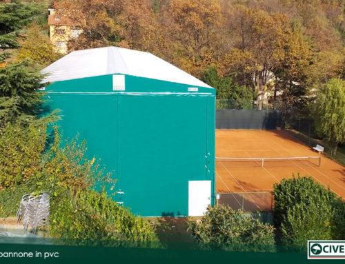 Un nuovo capannone in pvc della Civert in provincia di Torino
