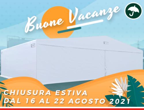 Buone vacanze da Civert, capannoni mobili in pvc!
