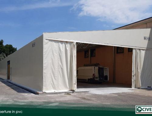 Coperture in pvc: nuova installazione in provincia di Asti