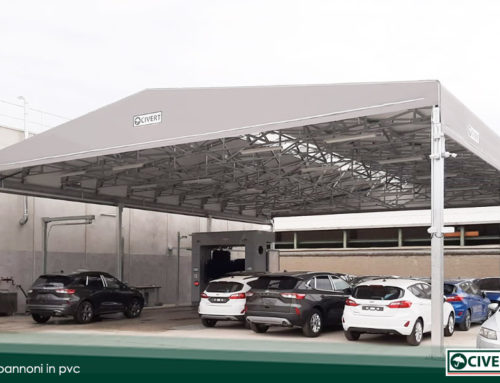 Capannoni pvc Civert per i concessionari di automobili