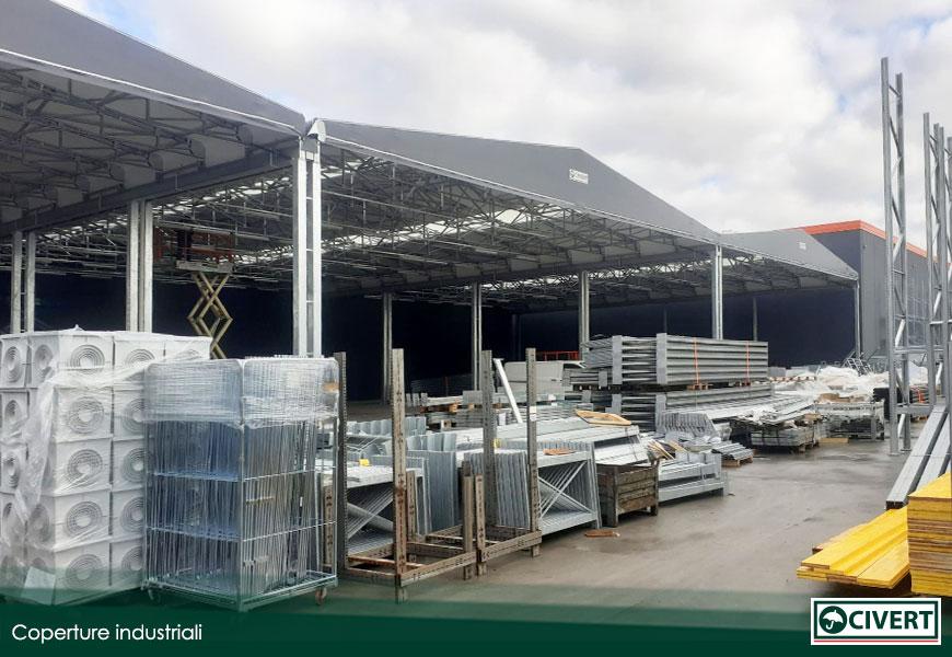 capannoni mobili in pvc a supporto di Bricoman