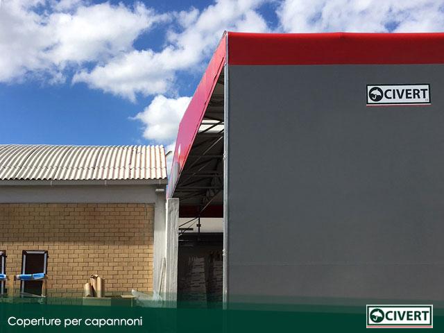copertura per capannoni mobili