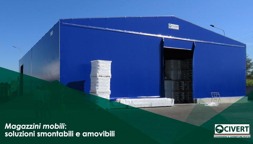 Capannoni smontabili per magazzini temporanei coperture for Magazzini mobili