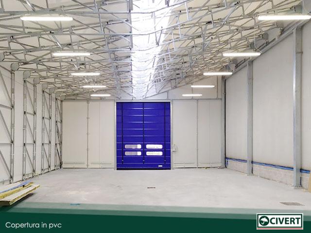 Interno capannone mobile | Civert