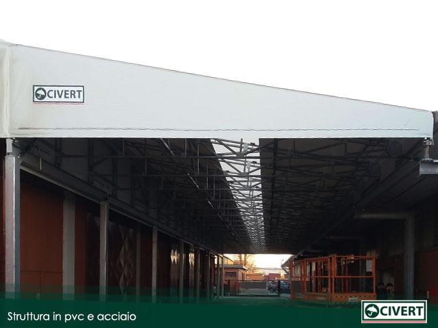 struttura pvc acciaio Milano